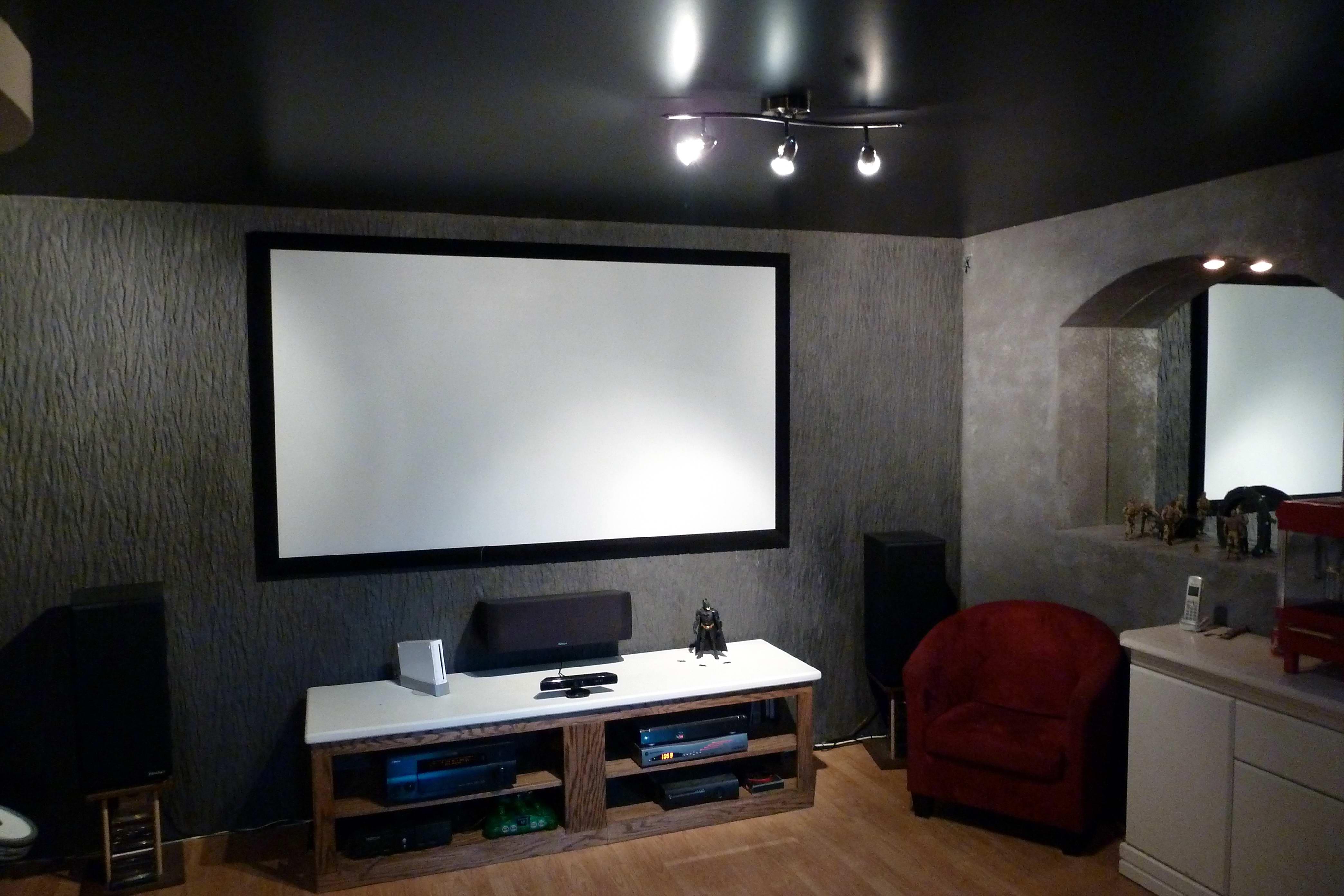 salle cinema maison fauteuil relax la salle de cinma soussol mexican star lights with salle. Black Bedroom Furniture Sets. Home Design Ideas